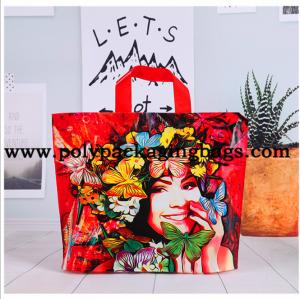 China Multi - Color Printing Die Cut Handle Plastic Shopping Bag wholesale