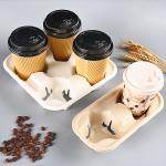 Reusable Stackable 2 Cup 4 Cup Coffee Cup Tray Cup Holder Paper