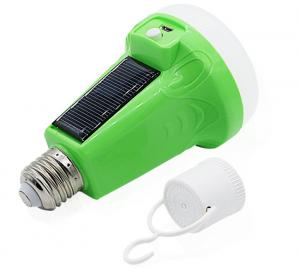 China 12W 18W Portable Solar Powered LED Flashlight Light Emergency Bulb For Camping, Breakout, Emergency use on sale