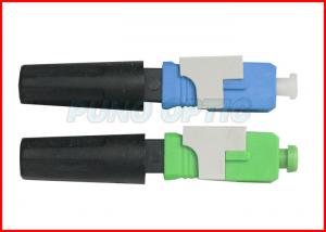China 3.0mm SC APC Field Installable Fiber Optic Connector , Field Assembly Connector on sale