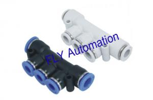 China Different Diam One Touch PK,PKG Union Triple Plastic Pneumatic Tube Fittings on sale