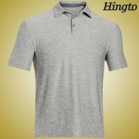 Quick Dry  200 Gsm Cotton Short Sleeve Polo Shirts for Mens , Grey