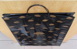 China Black HDPE / LDPE Hard Loop Plastic Handle Bag For Christmas Gift on sale