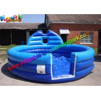 Plato PVC Blue Inflatable Water Pools , Kids Soap Foam Pitch Custom Made