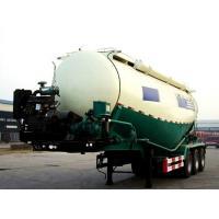3 Axle 50cbm Bulk Materials and Powder Tanker Semi Trailer Bulk Cement Semi Trailer With Cast Steel 10 Studs , Oil Seals