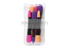 China 6 Pcs Dual End Makeup Puff Sponge For Eye Shadow , Latex Free Sponge on sale
