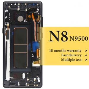 China wholesale For Samsung Note 8 lcd display with frame for mobile phone N9500 N950F N9500F N900D N900DS screen replacement on sale