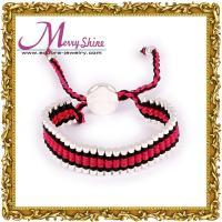 Fashionable red, black links friendship bracelets / bangles with ODM / OEM welcomed LS031