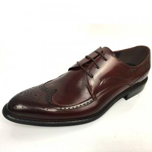 China Men's New Style Brown High Class Mens Leather Dress Shoes Pigkin Rubber on sale