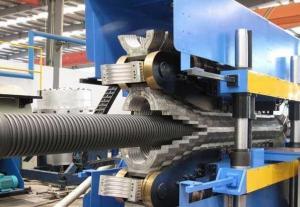 China Máquina acanalada de la protuberancia del tubo del PE, máquina plástica de alto rendimiento del tubo on sale