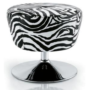 China Zebra Stripe Salon Rolling Chair With Gas Spring , Chrome Steel Materials on sale