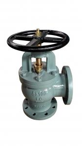 China JIS Marine Angle Cast Iron Globe Valve   JIS5K / 10K Flange Ends on sale