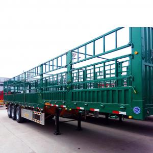 China 3/4 Axles 40ft Side Wall Heavy Duty Semi Trailers / Low Bed Semi Trailer Truck on sale