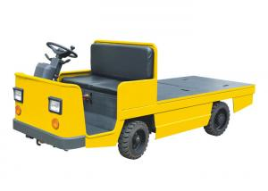 China Battery Driven Electric Platform Truck , Customized Surface 4 Wheel Platform Truck on sale
