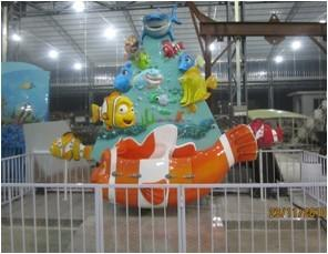 China Mini Golden Fish Kids Amusement Rides , Children Entertainment Equipment on sale