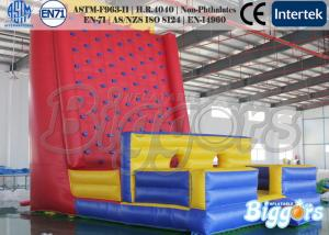 China 0.55mm PVC Healthy Inflatable Sports Games Climbing Wall for Rental on sale
