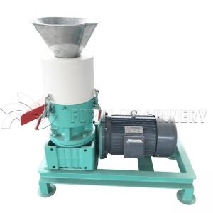China Mini Wood Pellet Making Machine / Flat Die Wood Chip Pellet Machine 12mm Pellet size on sale