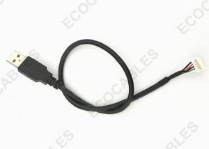 China UL2725 USB Extension Cable PHD Dual Connector To USB A Male Cable 380mm Length on sale
