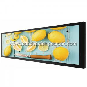 China Commercial Ultra Stretched Bar LCD Display 36.6'' Tempered Glass Material on sale