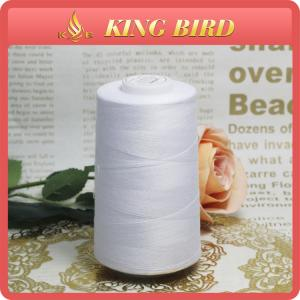 China Hand Sewing Thread White /  Industrial Sewing Machine Thread on sale
