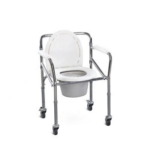 China Lightweight Commode Toilet Chair, Showercollapsible Commode Chair For Elderly People on sale