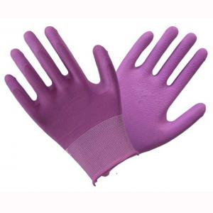 China Soft Hardy Latex Coated Safety Work Gloves Excellent Abrasion And Grip on sale