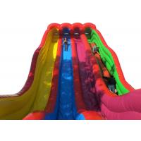 Funny Outdoor Water Slides , Colorful Blow Up Pool Slides For Inground Pools