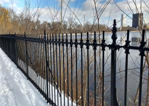 China Decorative welded steel picket fence,beautiful-garden fence Steel Tubular Fence ,Garrison Fence for sale on sale