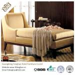 Wooden Indoor Chaise Lounge Chair Cream Tan Fabric With Transitional Arm Ottoman