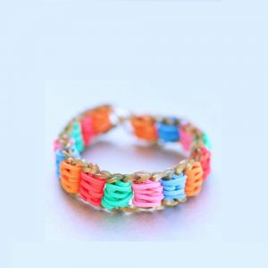 China Hot Sell Colorful Rubber Band For Bracelet ,DIY Crazy Color Loom Rubber Band on sale