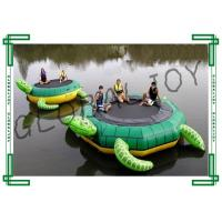 Turtle Shape Inflatable Floating Trampoline / Water Trampoline for Lakes