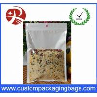 Resealable Plastic Ziplock Bags Food Packing oil proof Pure Front Transparent