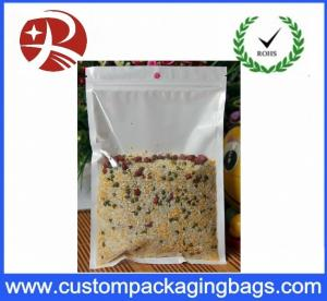 China Resealable Plastic Ziplock Bags Food Packing oil proof Pure Front Transparent on sale