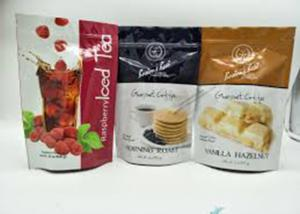 China Zipper Plastic Pouch Aluminum Foil Packaging Bags 10 Colors Printing Smell Proof on sale
