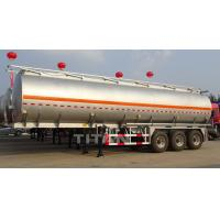 China 40 cbm aluminium alloy fuel tankers trailer aluminium fuel tanks on sale