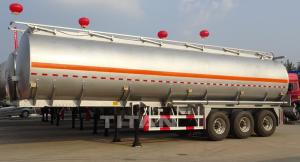 China 40 cbm aluminium alloy fuel tankers trailer aluminium fuel tanks on sale