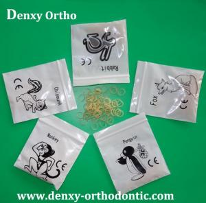 China Denxy Best quality Dental Elastic Orthodontic Elastic products Ligature tie Power chain Dental Elastic rubber bands on sale