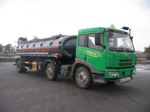 China 136 quilowatts do óleo líquido químico verde 150 do armazenamento do caminhão de tanque de 16cbm 6x2 - 250hp on sale