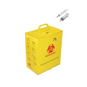 China 7L Corrugated paper Hospital Disposal Syringe Needle Sharp Container Medica safety box? on sale