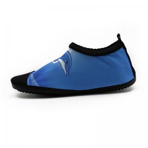 Quality Quick Dry Stretchy Aqua Foot Water Shoes For The Ocean Cute Dophin Pattern for sale