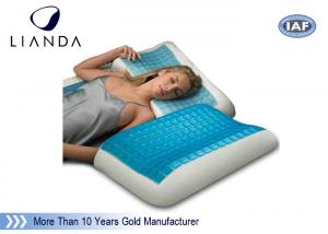China Blue Arctic Gel Contouring Memory Foam , Bedroom Cool Bed Pillow on sale