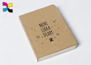 China Grey Line Printing School Notebook Thread Stitching 300gsm Kraft Paper Cover on sale