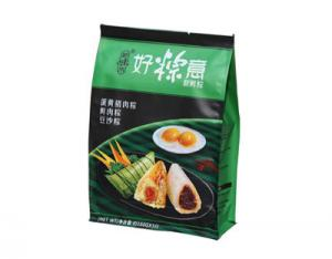China Eco-friendly Plastic Frozen Food Packaging Flat Bottom Stand Up Zipper on sale