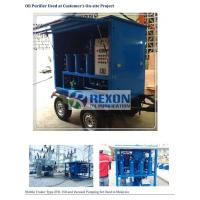China Dustproof Mobile Transformer Oil Purifier / Oil Filtration Unit ZYD-WM-150 on sale