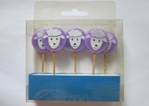 China Purple Birthday Gift Wax Pick Candles , Lovely Sheep Shape Paraffin Candle on sale