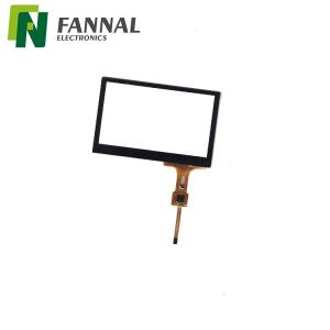 China Outdoor application 4.3 capacitive touch Glass structure pcap touch glass with black borders on sale