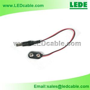 China 9V Battery Clip with DC plug, DC power cord on sale