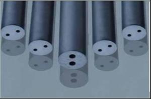 China Chemical Resistant Tungsten Carbide Round Bar With 2 Twisted Coolant Ducts 30° on sale
