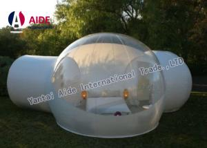 China Outdoor Bubble Tent PVC Clear Camping Tent 4M Diameter & 2 Fitting Room on sale