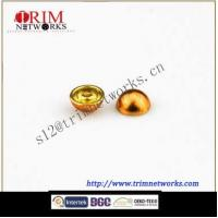 Alloy rivet 12.6MM brass with gold hemispherical fashion metal button